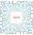abstract colorful circle halftone geometric vector image vector image