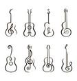 acoustic guitar set vector image