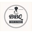 Barbeque vintage sign on white background vector image vector image