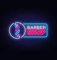 barber shop neon sign barber shop design vector image vector image