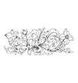 baroque ornament border engraved filigree vector image vector image