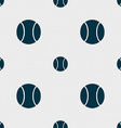baseball icon sign Seamless pattern with geometric vector image