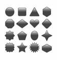 basic black geometrical shape web buttons set vector image