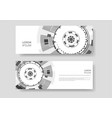 brochure with abstract round background vector image vector image