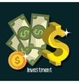Business and money investment vector image vector image