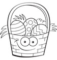 Cartoon Easter basket vector image vector image