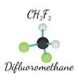 CH2F2 difluoromethane molecule vector image vector image