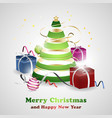 christmas and new year greeting card background vector image vector image