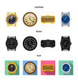 clock and time logo set of vector image vector image