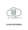 cloud database outline icon thin line style from vector image