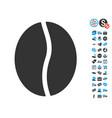 coffee bean icon with free bonus vector image vector image