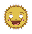 color silhouette of caricature of the sun smiling vector image vector image