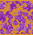 colorful seamless pattern with leopard print and vector image vector image