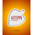 Cut out autumn leaf frame vector image vector image