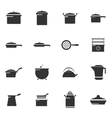 Dishes icons set vector image vector image