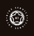 emblem for bicycle shop vector image