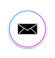 envelope icon email message letter symbol vector image vector image
