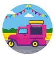 food truck street festival design vector image