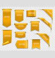 golden ribbons banners gold price offer labels vector image vector image