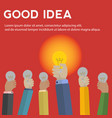 good idea among many business concept vector image vector image
