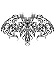 hand drawn decorative ornate doodle bat vector image vector image