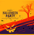 happy halloween celebration background in grunge vector image vector image