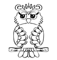 High quality original of Owl on a vector image vector image