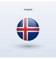 Iceland round flag