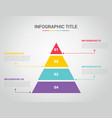 infographic template with pyramid style with free vector image