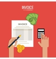 Invoice design business icon finance concept vector image