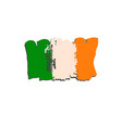 ireland flag painted by brush hand paints art vector image