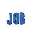 job word inscription vector image
