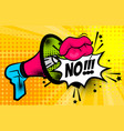 megaphone pop art comic text no vector image vector image