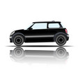 mini car black color white background image vector image vector image