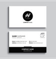 minimal business card print template design black vector image vector image