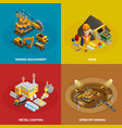 Mining Concept Icons Set vector image vector image