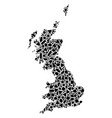 mosaic map of great britain of geometric figures vector image