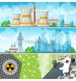 Nuclear Power Plant Horizontal Banners vector image vector image