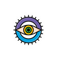 one eye of god religious sign symbol logo logotype vector image vector image