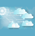 paper art of icon web cloud technology business vector image vector image
