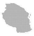 pixel map of tanzania dotted map of tanzania vector image vector image