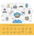 Police Line Composition vector image vector image