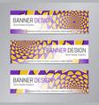 purple yellow web header abstract banner vector image