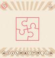 puzzle line icon vector image vector image