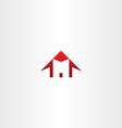 red house letter m home icon logo vector image