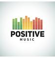 Reggae music equalizer logo emblem design vector image