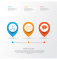 resources icons set collection of hierarchy deal vector image vector image