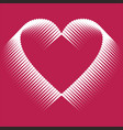romantic design element - heart halftone for vector image