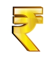 rupee money gold icon vector image