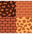seamless texturebricks and ground vector image vector image
